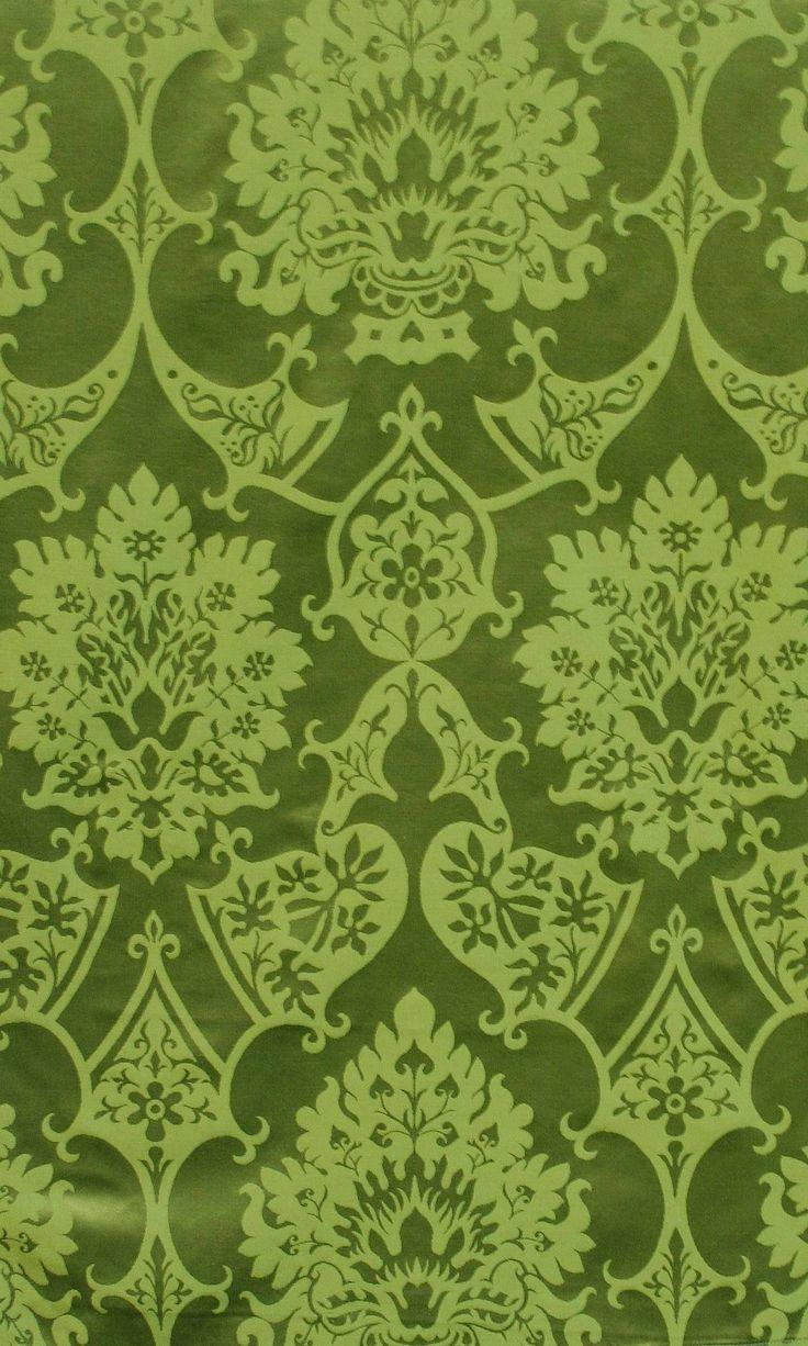 Gothic Green Damask beautiful fabrics Pinterest