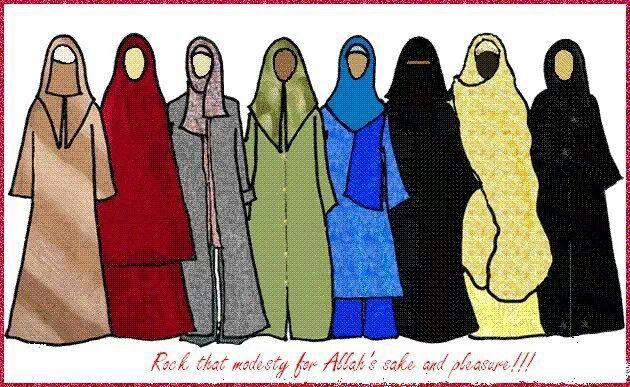 Modesty in the sisterhood!