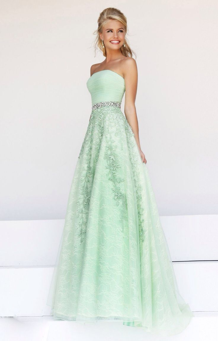 1112 best mint green wedding palette inspiration images on a beautiful green prom dress for prom ombrellifo Image collections