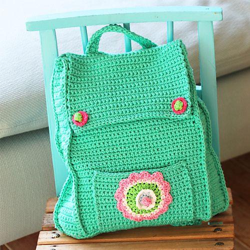 Kid's Backpack -free crochet pattern-