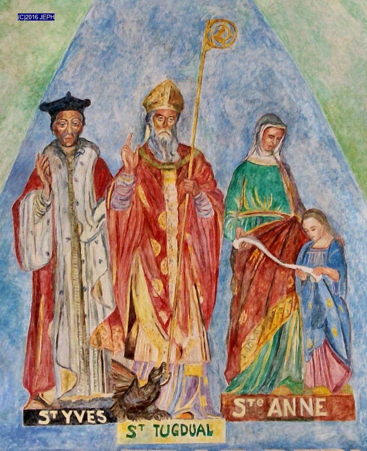 Sy Yves, fresque de Bernard Le Quellec, église de Pabu.