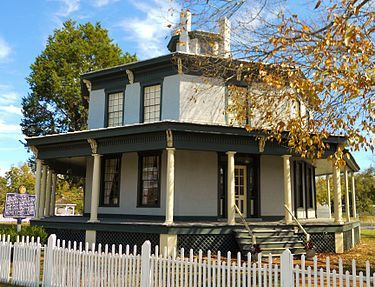 """Petty-Roberts-Beatty Octagon House Built by carriage and furniture merchant named Benjamin Petty and Union Cavalry Commander General Benjamin Grierson stayed there. Blueprints from """"A Home for All"""""""