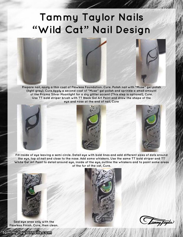 "Tammy Taylor Nails ""Wild Cat"" Nail Design"