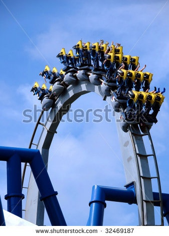 stock photo : rollercoaster
