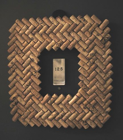 wine cork frame herringbone pattern                                                                                                            recent cork project             by        ursula76      on        Flickr