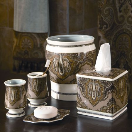 Croscill Cordero Bath Collection   mocha colored paisley design with  touches of pale aqua. 17 Best images about Most Popular Styles on Pinterest   Window
