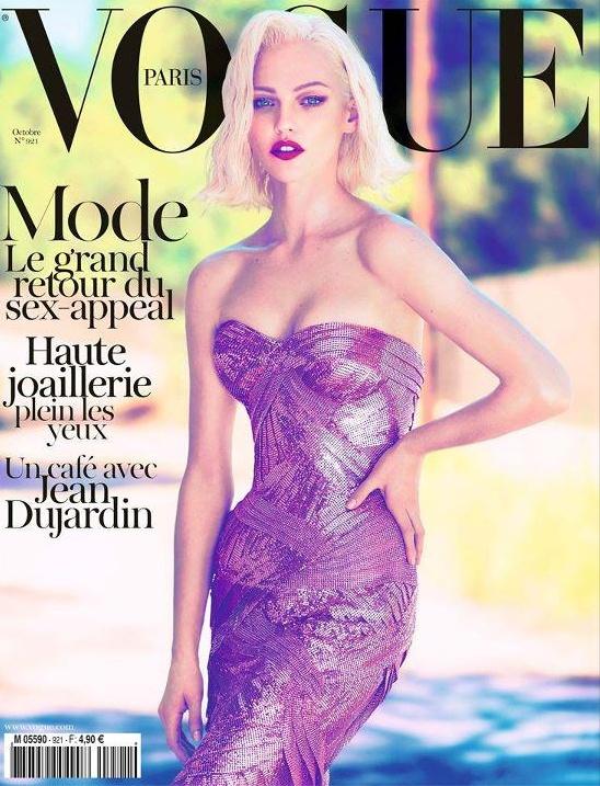 Vogue Paris - octobre 2011 - Sasha Pivovarova   http://www.vogue.fr/mode/news-mode/articles/sasha-pivovarova-en-couverture-du-vogue-d-octobre/9345