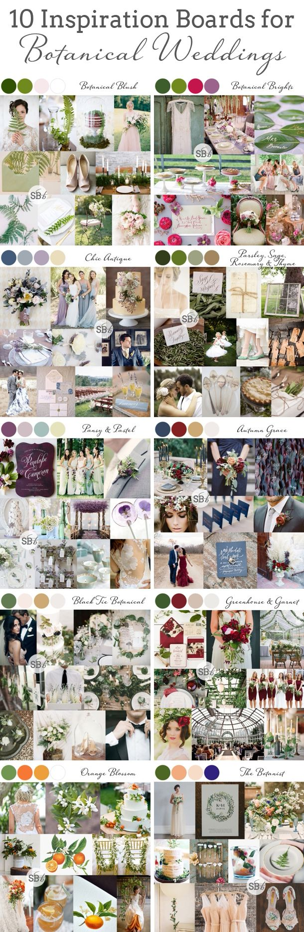 10 #Botanical #Wedding #InspirationBoards | SouthBound Bride www.southboundbride.com/10-botanical-wedding-inspiration-boards