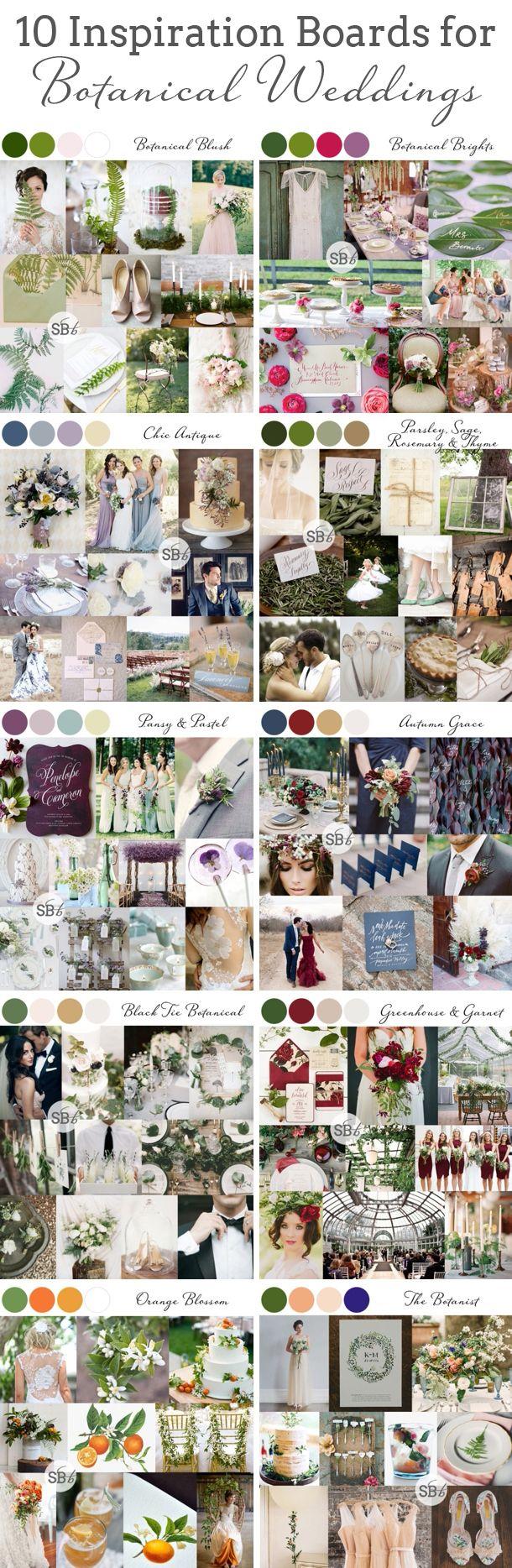 10 #Botanical #Wedding #InspirationBoards | SouthBound Bride www.southboundbride.com/10-botanical-wedding-inspiration-boards