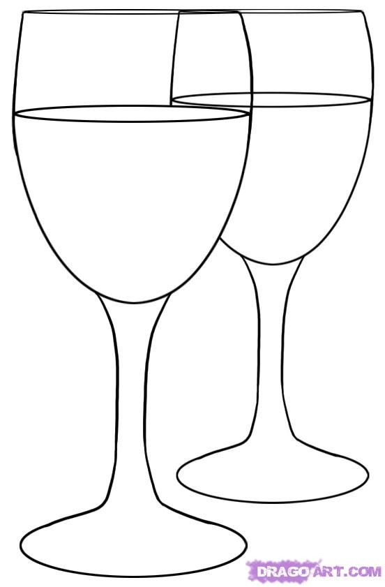 How to Draw Wine Glasses, Step by Step, Stuff, Pop Culture