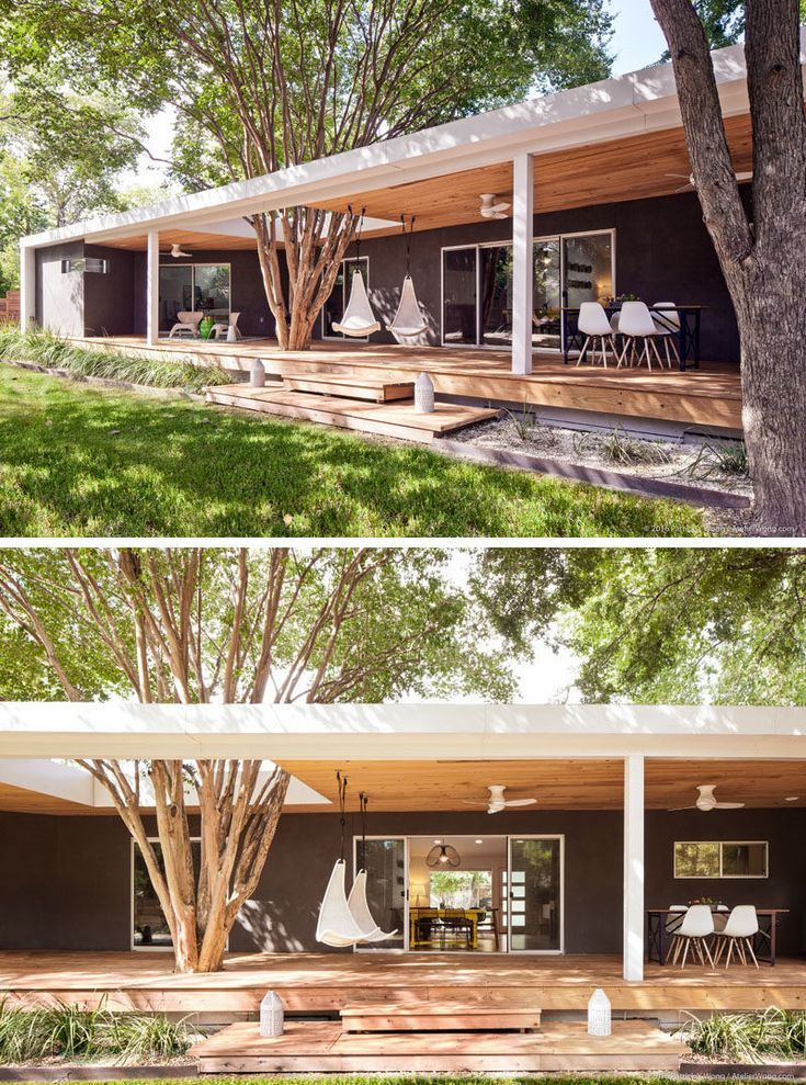 Modern Minecraft Houses Porch Design Ranch House Additions: This 1962 Ranch-Style Home In Texas Was Given A Contemporary Update