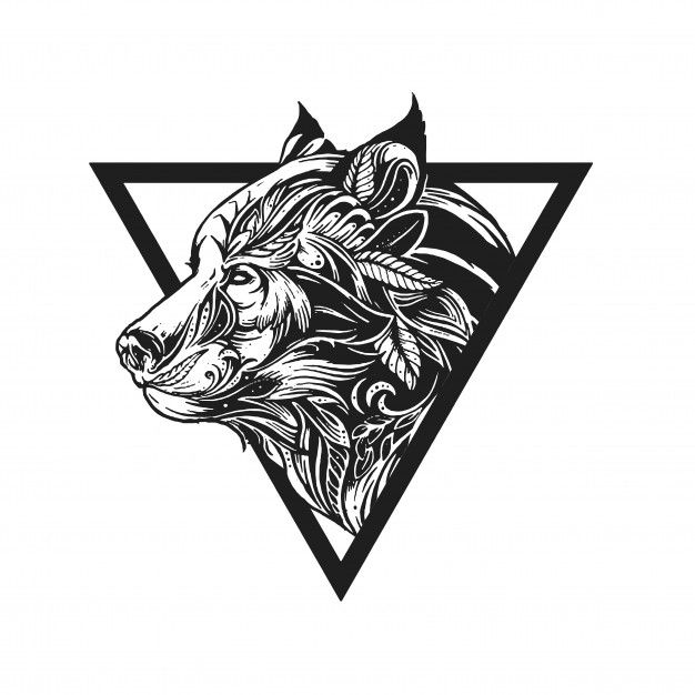 Tribal Wolf Tattoo Design Ornament Illustration Vector In 2020 Wolf Tattoo Design Tribal Wolf Tattoo Abstract Wolf
