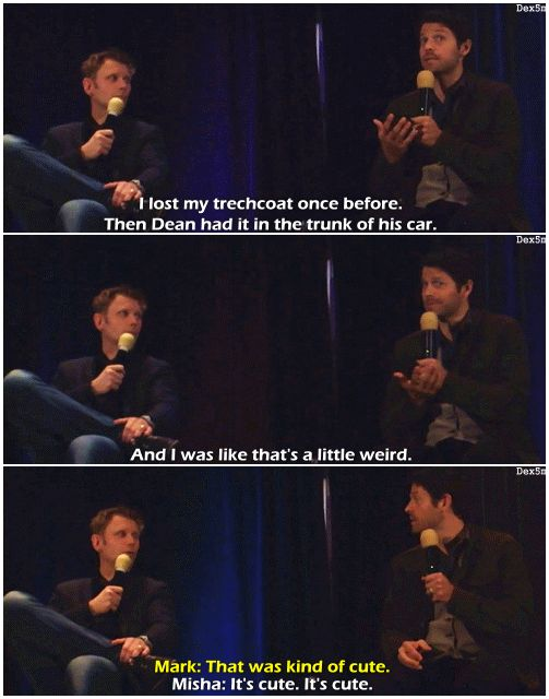 Mark Pellegrino and Misha Collins about Castiel's Trench Coat