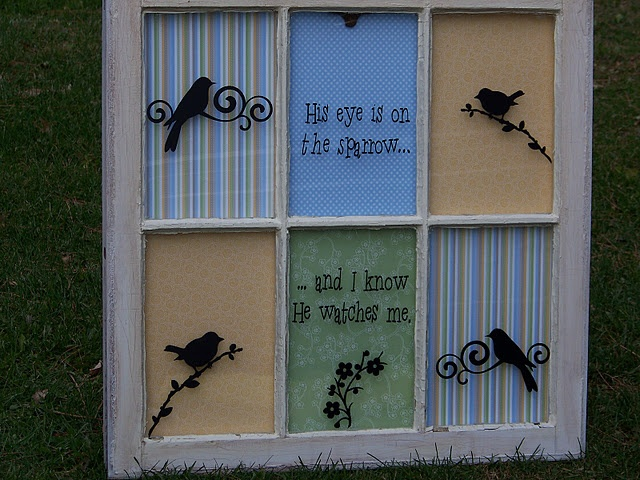 My vintage window art