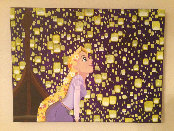 READY TO SHIP Tangled Floating Lanterns Painted Canvas by KaleyCrafts on Etsy https://www.etsy.com/listing/217121387/ready-to-ship-tangled-floating-lanterns