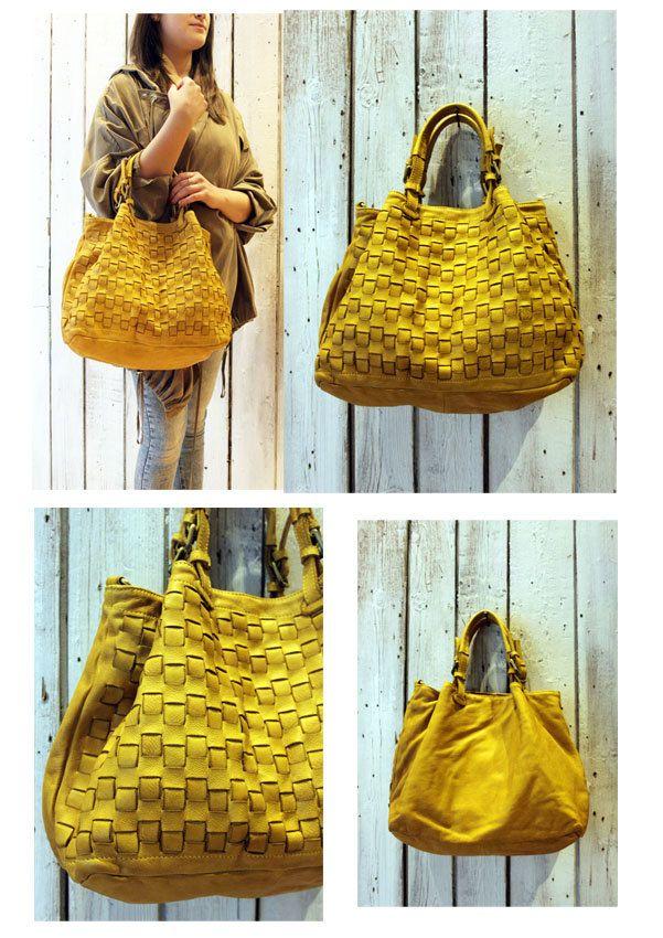"""Handmade woven leather bag """"INTRECCIATO 66"""" di LaSellerieLimited su Etsy"""