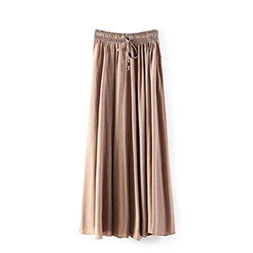 J.cotton Women's Hollow Style Flower Print Female Tulle Skirt Chiffon Skirt Dress Summer Beach Skirts High Waist Sexy A-line Candy Color Flared Pleated Casual Hem Skaters Stretch Plain Jersey Skirt Size M (Khaki) J.cotton http://www.amazon.com/dp/B00V9IFV5Q/ref=cm_sw_r_pi_dp_Q1m7vb0ZDTWJ4