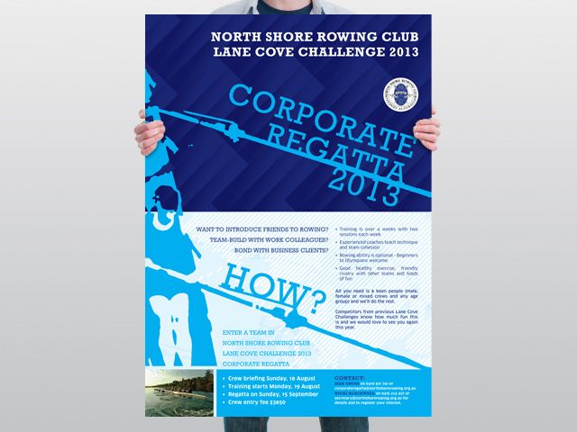 North Shore Rowing Club Poster Detail