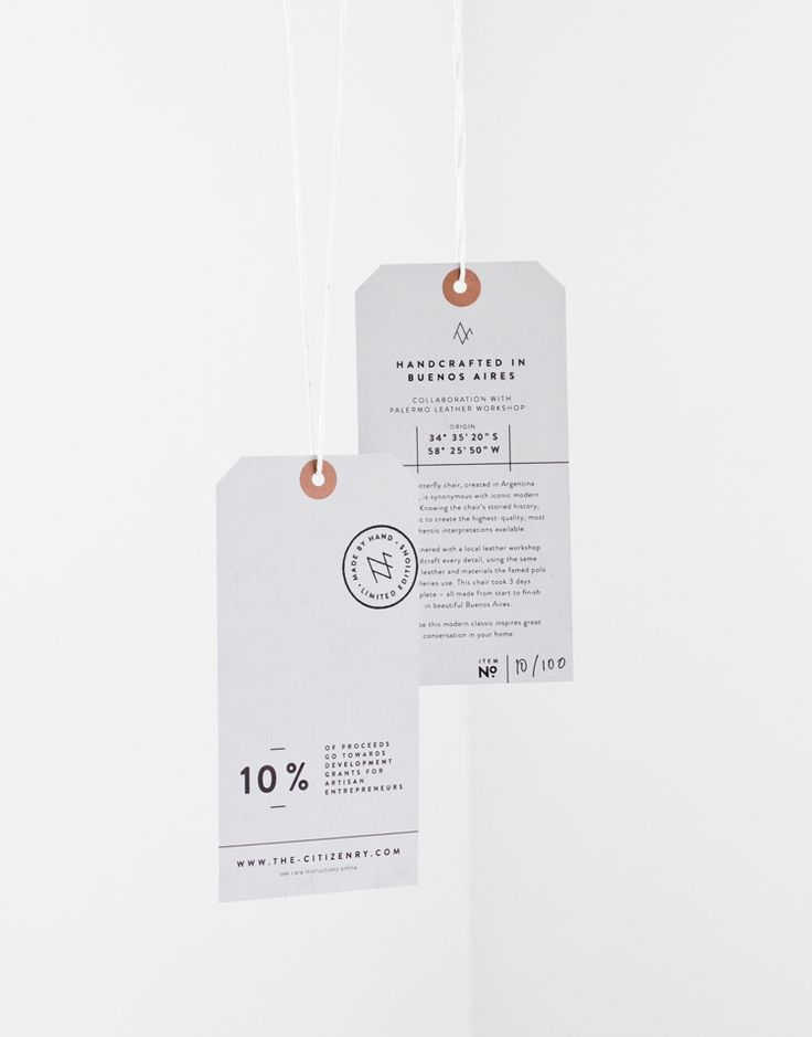 Veda House | Graphic Design, Product Hang Tags for The Citizenry