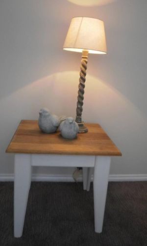 Handmade French Country Beach House Square Lamp Side Bedside Hall TABLE