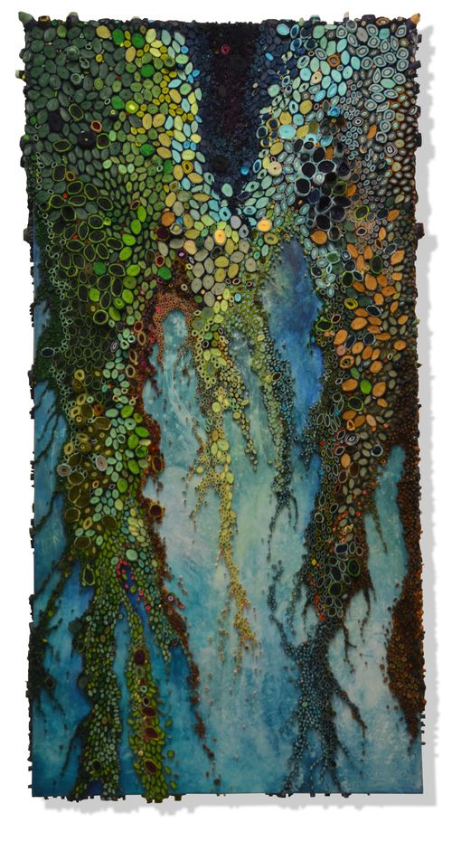 """Amy Genser - Portfolio Jungle Boogie - 2015 36"""" x 72"""" x 4"""" paper and acrylic on canvas ♥♥"""