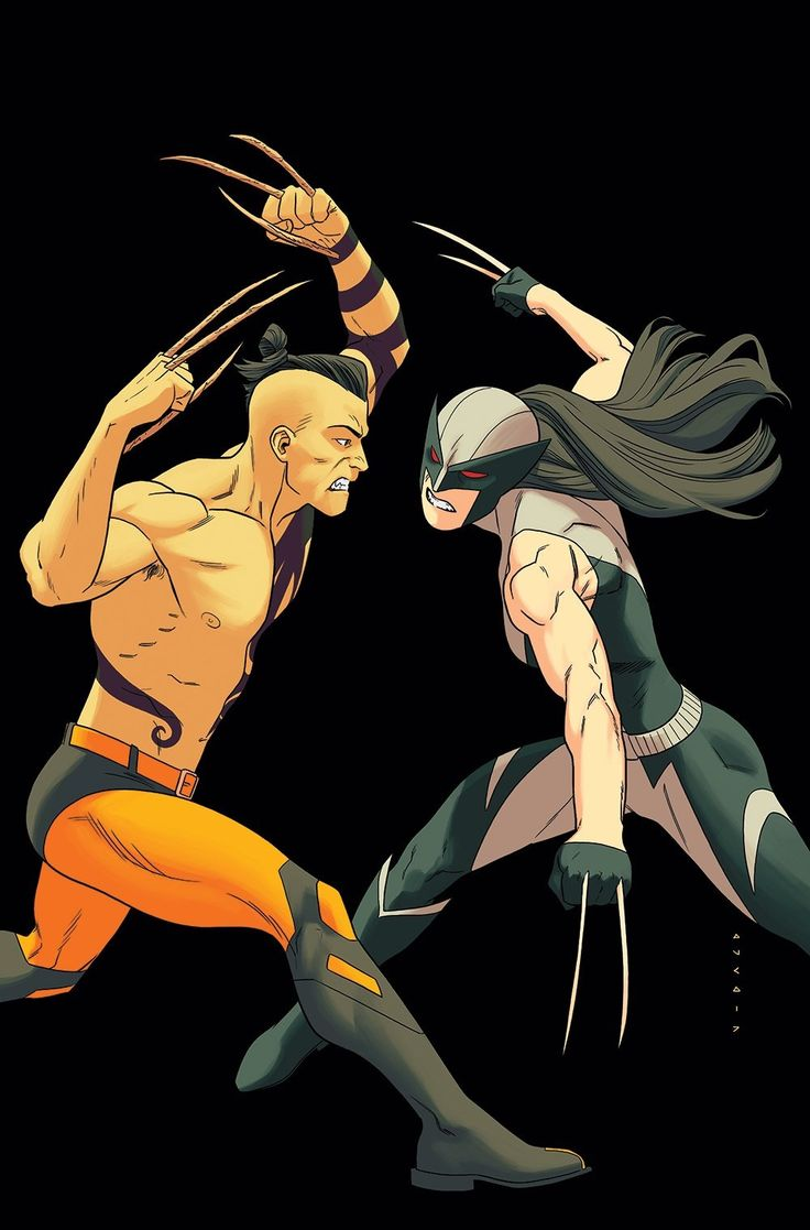 Son vs. Daughter, Daken vs. Laura by Kris Anka - All-New Wolverine. WHAT? NO! THEY LOVE EACH OTHER, smh Wolverines...