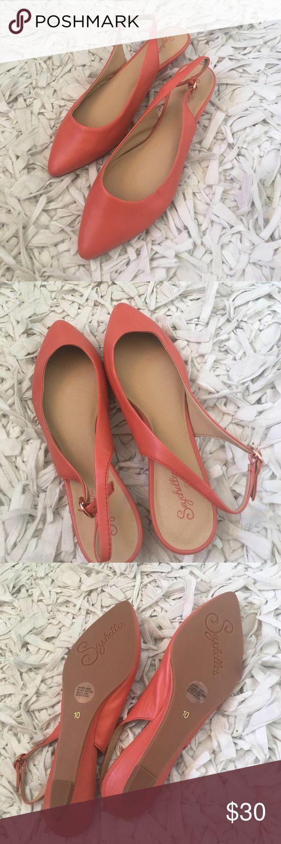 Seychelles coral sling back wedges. NWOT Seychelles coral sling back wedges. NWOT Seychelles Shoes Wedges