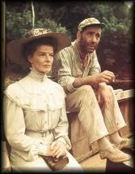 African Queen, Humphrey Bogart and Katherine Hepburn, John Huston