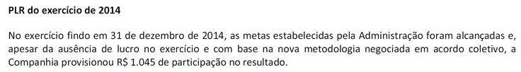 Contabilidade Financeira: Petrobras: PLR