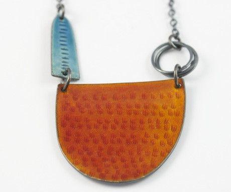 Tidal Neckpiece in Burnt Orange by Caroline Finlay, available through: http://www.culturelabel.com/vendors/Craft-Scotland/