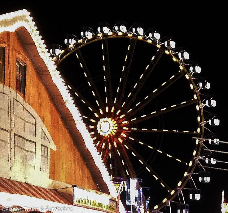 The Ferris Wheel at Regensburger Dult beer festival in Germany