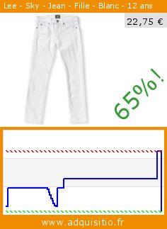 Lee - Sky - Jean - Fille - Blanc - 12 ans (Vêtements). Réduction de 65%! Prix actuel 22,75 €, l'ancien prix était de 65,00 €. http://www.adquisitio.fr/lee/sky-jean-fille-blanc-12