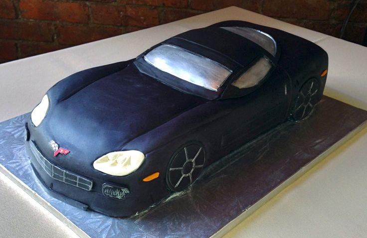 Corvette cake - my first car cake!