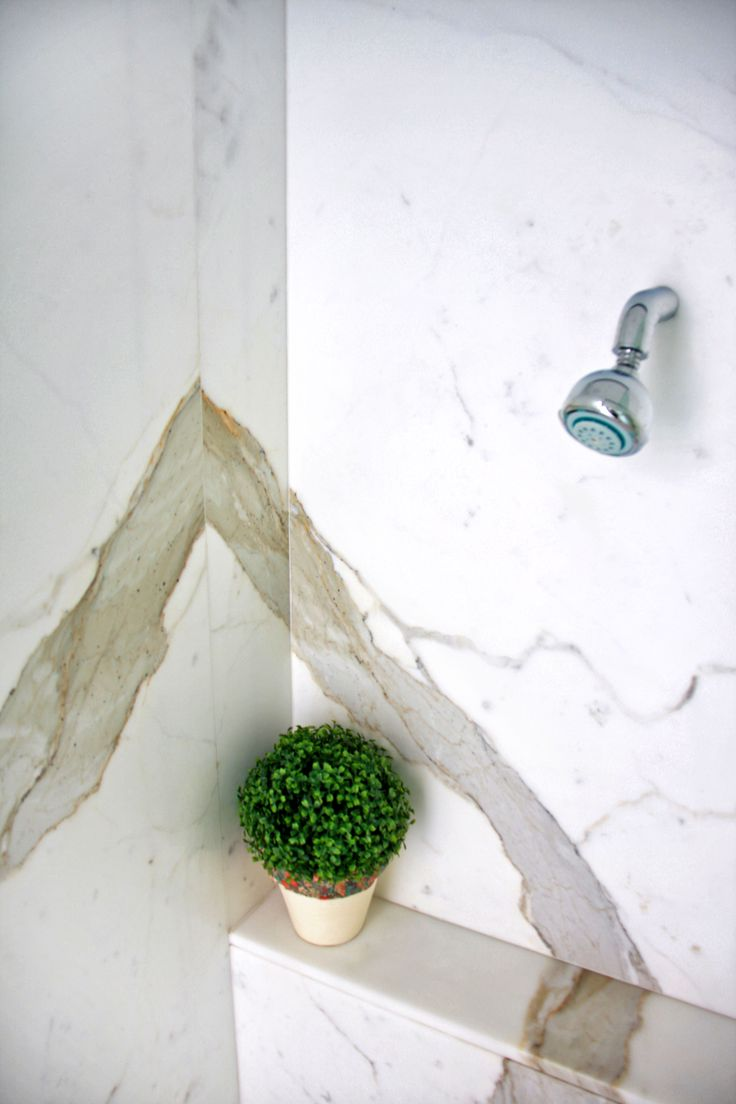 Calacatta Shower Supplied and Installed By Euro Marble