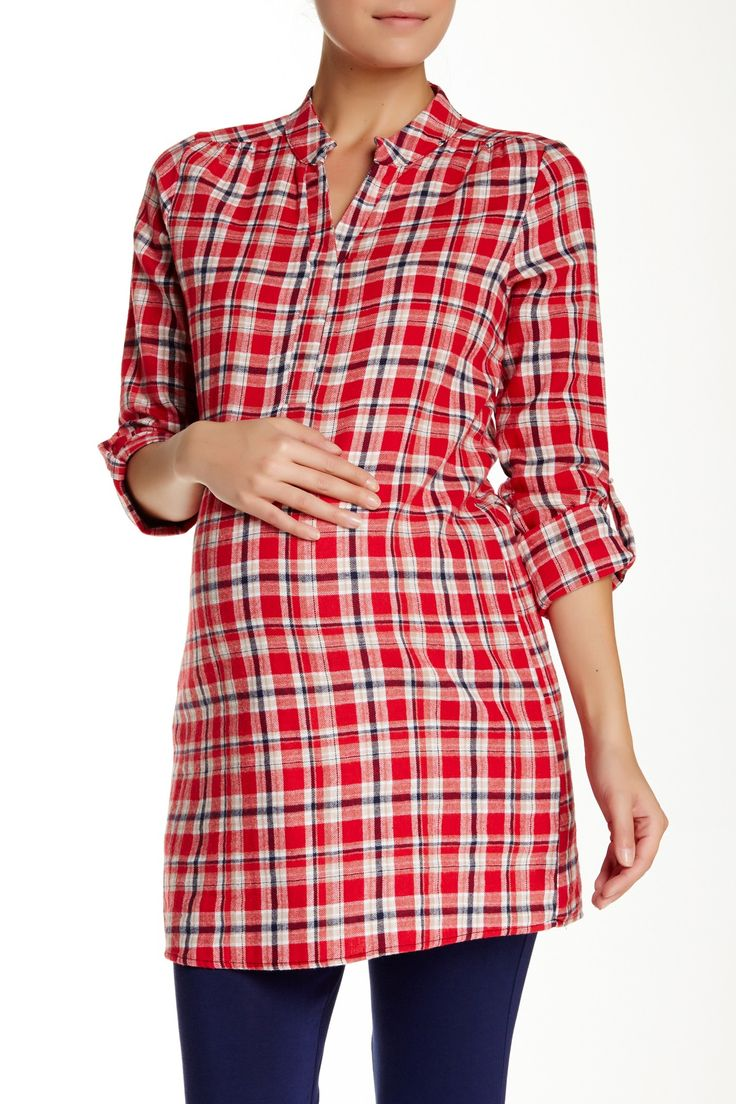 Plaid Flannel Tunic (Maternity)