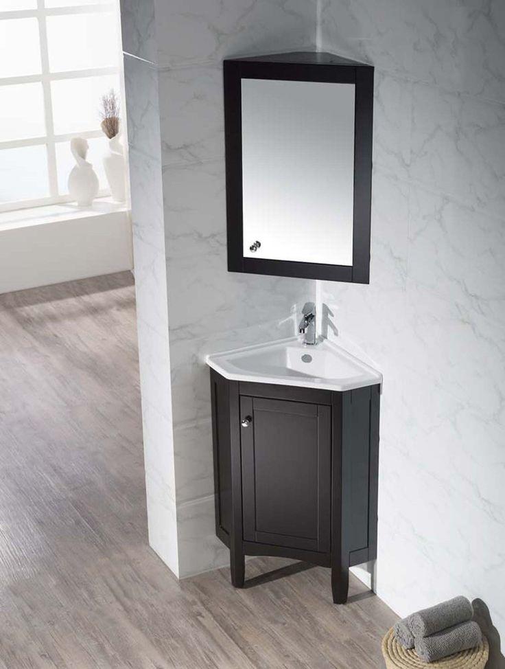 Monte 25 Inch Corner Bathroom Vanity With Medicine Cabinet
