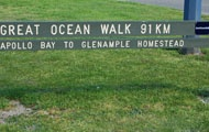 Start of the Great Ocean Walk, Apollo Bay