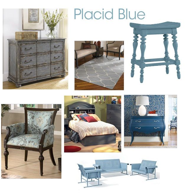 Seeing Blue – Color Ideas For Rooms - How to Use Placid Blue Pantone's Color for Spring 2014 in Your HomeColors Trends, 2014 Trends, Blue Pantone'S, Pantone'S Colors, Furniture Refinishing, Colors Schemes, Furniture Painting, Colors Ideas, Blue 2014