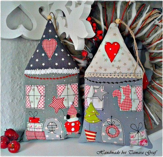 FABRIC CHRISTMAS HOUSES - Домики из ткани, мягкие игрушки своими руками