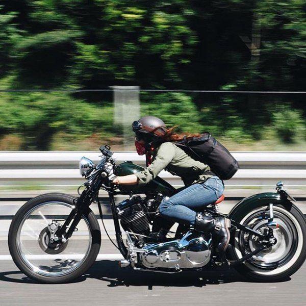 Rider Girl on Harlay-Davidson Custom