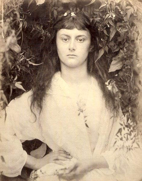 "Julia Margaret Cameron's ""Pomona."" This is Alice Liddell (re ""Alice in Wonderland"") at about age 17."