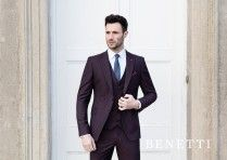 Tapered 3 Piece Etro Wine Suit by Benetti #winesuit #suit #mensfashion