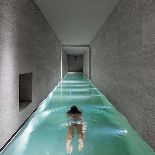 3. A swimming pool 'hallway' for doing laps