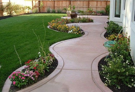 Backyard Plants Ideas 25 best ideas about backyard plants on pinterest insect repellent plants companion planting and petunias Garden Design With Ideas For Backyard Like The Stamped Concrete And Plantsflowers With Garden