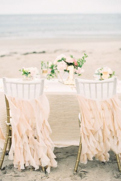 Ruffle chairs: http://www.stylemepretty.com/2014/09/05/watercolor-wedding-inspiration-shoot/   Photography: Ruth Eileen - http://rutheileenphotography.com/