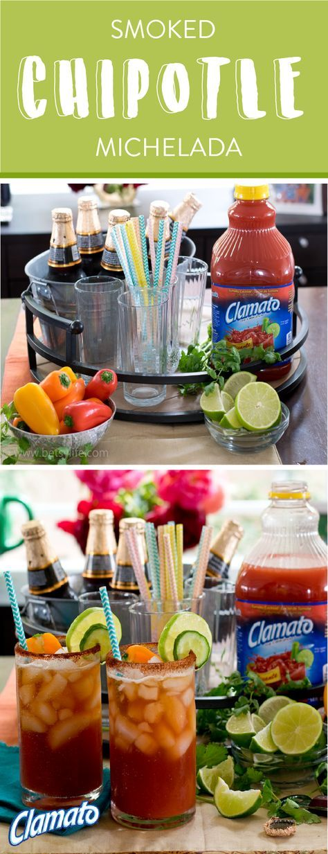 What's our summer drink of choice you ask? This recipe for a Smoked Chipotle Michelada of course! Grab the Clamato®, lime juice, Mexican beer, Worcestershire, ice, and hot sauce to get started on a truly delicious cocktail. Plus, every sip of this savory creation includes a chili pepper garnish. Now we're talking about a drink that can compete with the summer heat! Pick up all the items you need at your local Albertsons, Safeway, Pavilions, Tom Thumb, or Vons store.