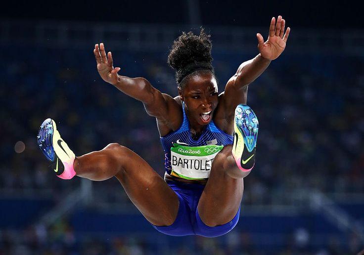 Tianna Bartoletta!  #USA wins the women's Long Jump  #Gold with a jump of 7.17m!  #Athletics