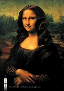 Ad for Hair Product: Funny Pics, Artworks, Mona Lisa, New Hair, Hair Care Products, Canvas, Flats Irons, Monalisa, Prints Ads