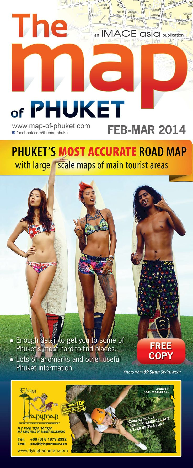 Cover of #Phuket Official Map (#Thailand)