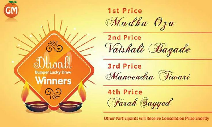 Diwali Lucky Draw Contest !!! Hers Is The Winners Of Contest  *Other Participants Will Receive Their Consolation Price Shortly  Stay Tunned For Our Upcoming Contest !!! #OnlineSuperMarket #OnlineGroceryShopping #TingTing #JaiHind #SaveWater